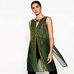 Star by Julien Macdonald - Green printed necklace longline top