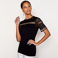 Star by Julien Macdonald - Black eyelet top