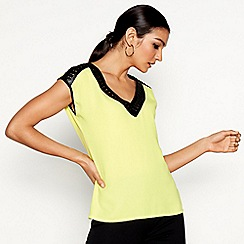 Star by Julien Macdonald - Bright yellow v-neck top