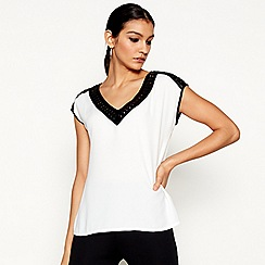 Star by Julien Macdonald - Ivory v-neck top