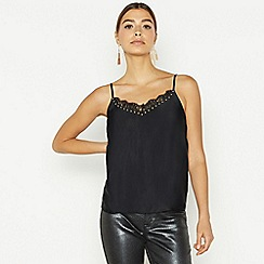 Star by Julien Macdonald - Black sleeveless lace stud camisole
