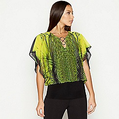 Star by Julien Macdonald - Bright green printed short sleeve bubble top