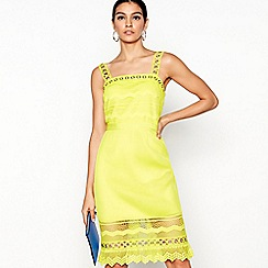Star by Julien Macdonald - Yellow knee length dress