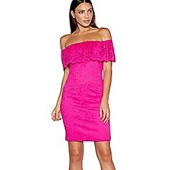 Star by Julien Macdonald - Pink lace Bardot neck mini dress