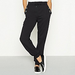 Star by Julien Macdonald - Black eyelet jogging bottoms