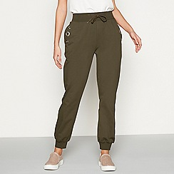 Star by Julien Macdonald - Khaki cotton eyelet jogging bottoms