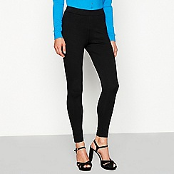 Star by Julien Macdonald - Black ponte button hem leggings