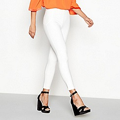 Star by Julien Macdonald - White ponte leggings