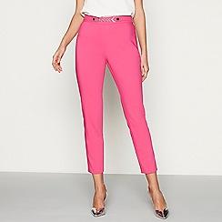Star by Julien Macdonald - Bright pink sateen slim leg trousers