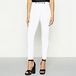 Star by Julien Macdonald - White cotton sateen gold chain smart trousers