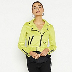 Star by Julien Macdonald - Yellow suedette studded biker jacket