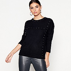 Star by Julien Macdonald - Black studded jumper