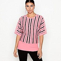 Star by Julien Macdonald - Pink striped batwing jumper