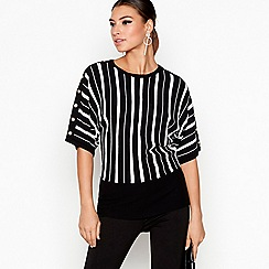 Star by Julien Macdonald - Black striped batwing jumper