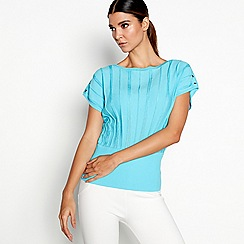Star by Julien Macdonald - Turquoise eyelet bubble jumper