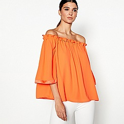 Star by Julien Macdonald - Orange studded bardot top