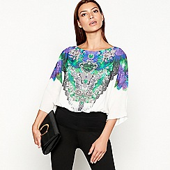 Star by Julien Macdonald - Multicoloured jewel print bubble hem top