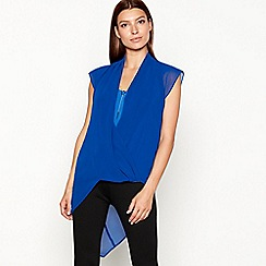 Star by Julien Macdonald - Blue asymmetrical top