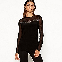 Star by Julien Macdonald - Black hotfix top