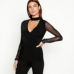 Star by Julien Macdonald - Black embellished mesh top