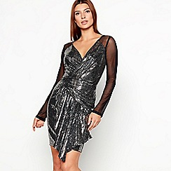 Star by Julien Macdonald - Black chainmail mesh sequin mini dress