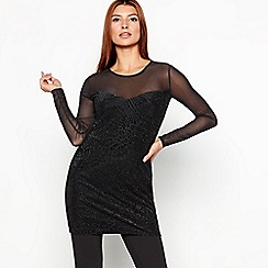 Star by Julien Macdonald - Black mesh glitter tunic