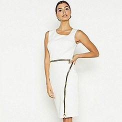 Star by Julien Macdonald - White asymmetric neck bodycon dress