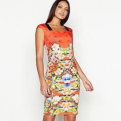 Star by Julien Macdonald - Multi-coloured floral print scuba mini bodycon dress