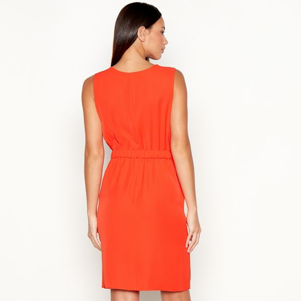utility MacDonald Julien midi neck Star by V Orange dress Zg6WwxRvqn