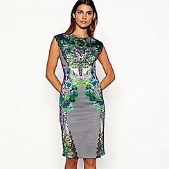 Star by Julien Macdonald - Multi-coloured jewel print scuba dress