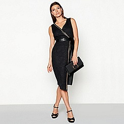 Star by Julien Macdonald - Black chain trim wrap dress