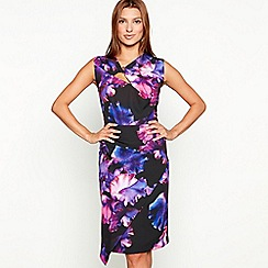 Star by Julien Macdonald - Multicoloured floral print twist front asymmetric sleeveless dress