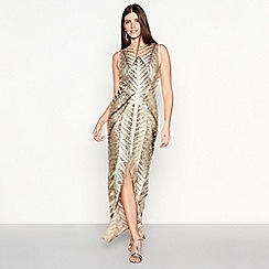 Star by Julien Macdonald - Gold Sequin 'Wow' Maxi Dress