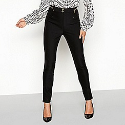 Star by Julien Macdonald - Black gold zip suit trousers