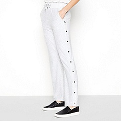 Star by Julien Macdonald - Grey Popper Trim Velour Jogging Bottoms