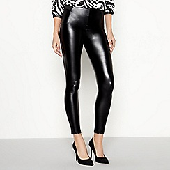 Star by Julien Macdonald - Black leather look leggings