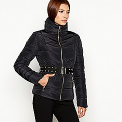 Star by Julien Macdonald - Black belted padded jacket