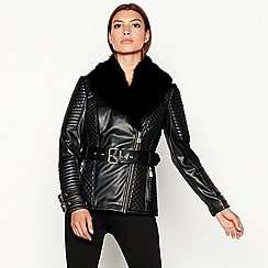 Star by Julien Macdonald - Black faux fur collar jacket