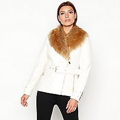 Star by Julien Macdonald - White faux fur collar jacket