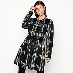 Star by Julien Macdonald - Monochrome check coatigan