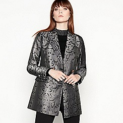 Star by Julien Macdonald - Silver snakeskin print double-breasted blazer