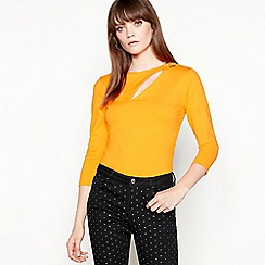 Star by Julien Macdonald - Orange 'Peakaboo' ponte top