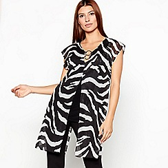 Star by Julien Macdonald - Black zebra print longline tunic