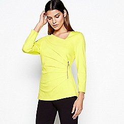 Star by Julien Macdonald - Bright yellow zip detail top