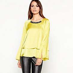 Star by Julien Macdonald - Bright yellow embellished cropped top