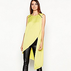 Star by Julien Macdonald - Bright Yellow Chain and Zip Trim Longline Top