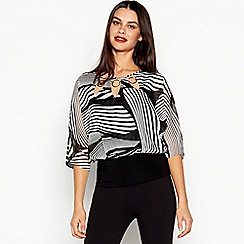 Star by Julien Macdonald - Black Stripe Print Bubble Top