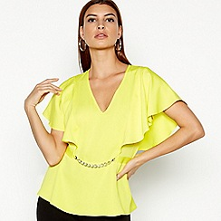 Star by Julien Macdonald - Yellow Chain Detail Top