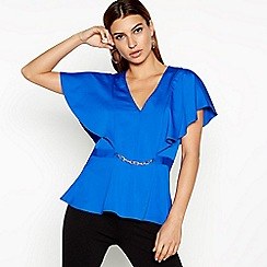 Star by Julien Macdonald - Blue Chain Detail Top