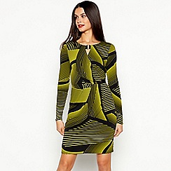 Star by Julien Macdonald - Black Chunky Stripe Print Knee Length Dress